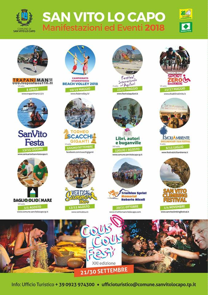 eventi 2018 a San Vito Lo Capo - Torre Salina